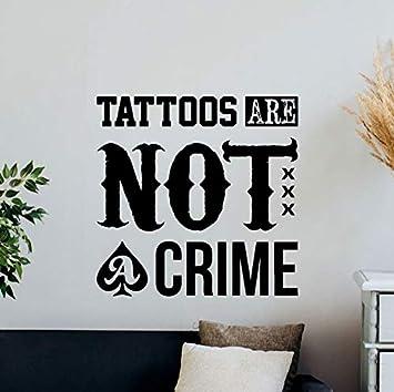 El tatuaje no es un crimen tatuajes de pared cita tienda de ...
