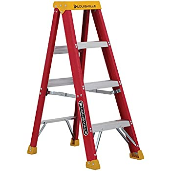 Louisville Ladder L-3016-04 300-Pound Duty Rating Fiberglass Stepladder, 4-Feet