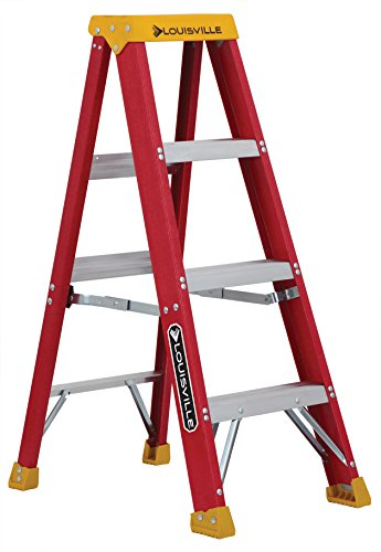 Ladder Fiber - Louisville Ladder 4-Feet Fiberglass Stepladder, 300-Pound Capacity, L-3016-04