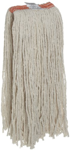 Rubbermaid Commercial Premium Cut-End Blend Mop, 20-Ounce Size, 1-Inch Orange Headband, White (FGF51700WH00) (Rubbermaid Mop Head Premium)