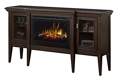 Upton electric fireplace boutique cabinet, walnut