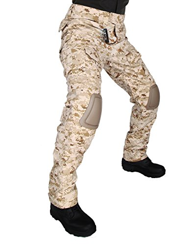 ZAPT Tactical Pants with Knee Pads Airsoft Camping Hiking Hunting BDU Ripstop Combat Pants 13 Kinds Army Camo Uniform Military Trousers (MARPAT Desert Digital, XL38)