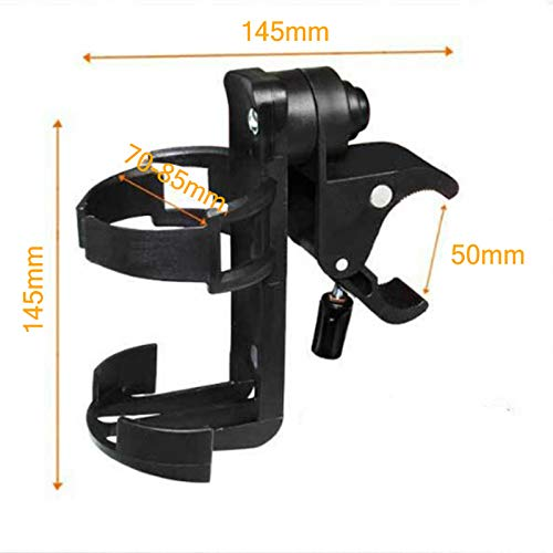 MFSSH Stroller Bottle Holders, Universal Cup Holder, Stroller Cup Holder, 360 Degrees Rotation, Can Be Clamped on The Steel Tube of The Baby Carriage,3PACKS by MFSSH (Image #5)