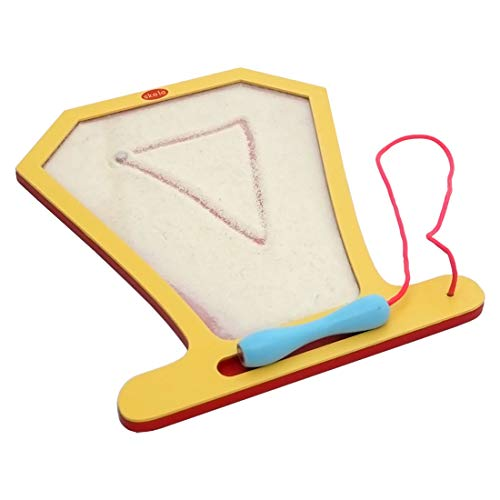Skola Toys - Sand Art - Create Patterns with Magnetic Tip Pen - Develop Pre-Writing Skills - Wooden Educational Learning Toy for 2 to 4 Year Old