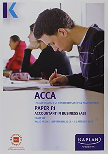 F1 Accountant in Business - Exam Kit (Acca Exam Kits): Amazon co uk