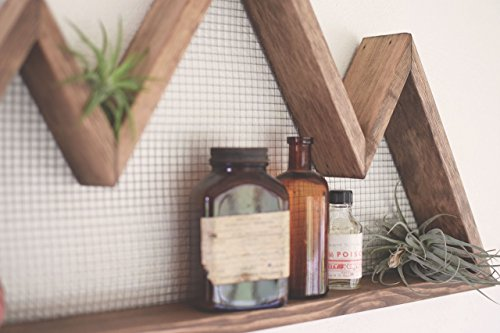Cheap Three Peak Rustic Mountain Shelf