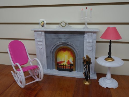 Gloria Fireplace Play Set for dolls and dollhouse furniture