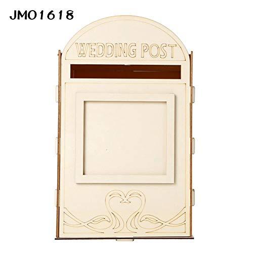 (Haptern Wooden Wedding Card Box Royal Mailbox Post Box Wedding Party DIY Decoration Supplies for)
