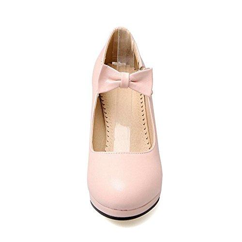 Mujer Pink Chunky Heel Zapatos JOJONUNU Moda 8Xxdwda