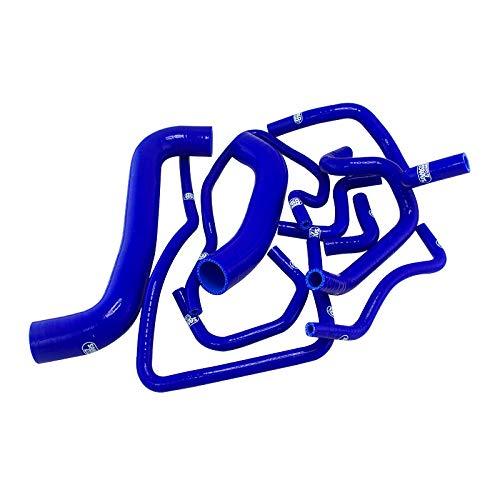 Kit de tuyaux en silicone 10 tubes bleus pour radiateur de refroidisseur interm/édiaire adapt/és pour 2001-2006 Subaru Impreza WRX