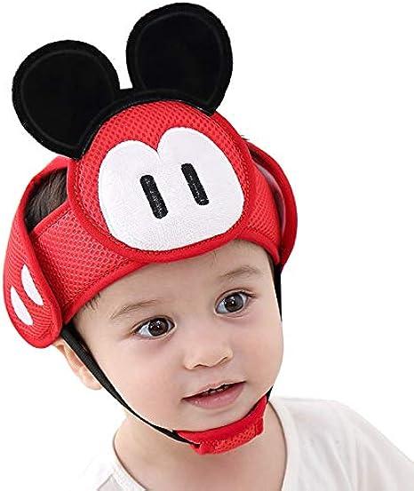 Casco de Seguridad para Beb/é Ni/ño Infantil Gorra Antigolpe Sombrero para Proteger Cabeza Aprender Gatear Andar Caminar Correr Jugar Bicicleta con Ajustable Arn/és de Protecci/ón