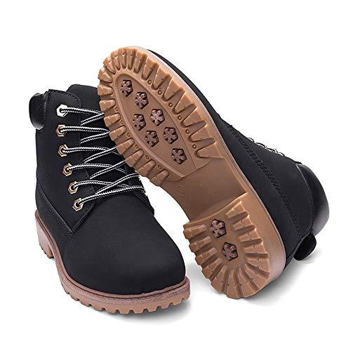 Antiscivolo Moda Basic Fuori Black Invernali Caldi Scarpe Casual Stringati Corti Rotonde Stivali Donne stivali qBnzx0YRHw