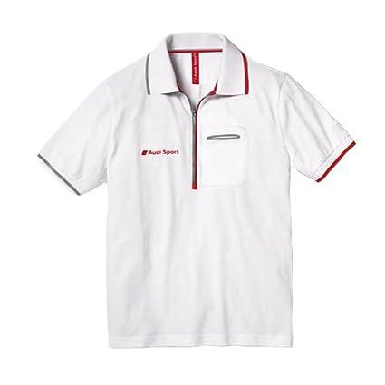 Audi 3131202017 Sport Polo para Hombre, Blanco, Talla XXXL: Amazon ...