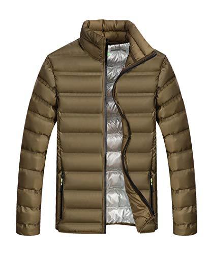 Piedi Collare Piumino È Caldo Lungo Cappotto Militare Runyue Uomini Invernale Outwear Parka Degli Top Con Casual Manica Verde In Hw6OWq