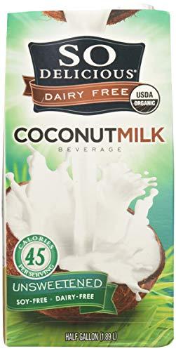 So Delicious Dairy Free Coconut milk Beverage, Unsweetened Original, 4 Count
