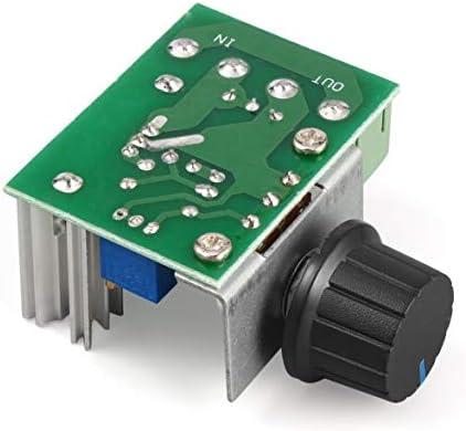 Tivollyff 1Pc 220V 2000WスピードコントローラSCR電圧レギュレータ調光調光器サーモスタット電子金型電圧レギュレータモジュール