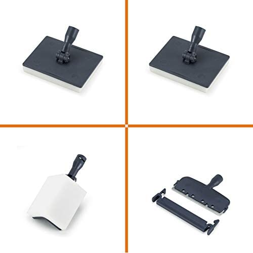 hygger 6-in-1 Cleaning Tools Spring Version Replacements Kit (2 Flat Sponges Angle Sponge Razor Scraper)