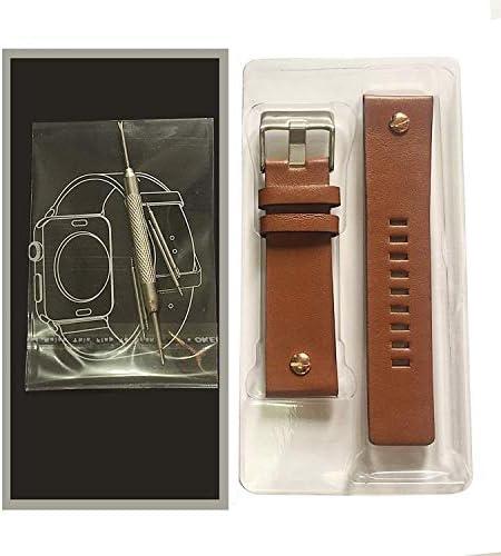 ディーゼル diesel 腕時計バンド 本革 時計 ベルト 22mm 24mm 26mm 28mm 30mm 防水 【3本バネ棒+バネ棒外し+専用ボックス付き】