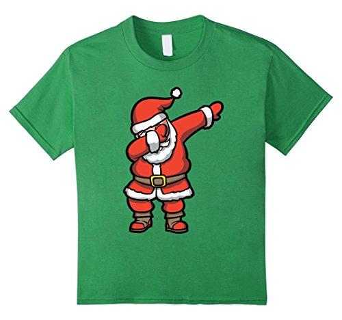 Kids Dabbing Santa T-Shirt - Funny Santa Claus Christmas Dab Tee 8 Grass