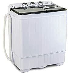 ProductDescription: Ourportableminiwashingmachineis a goodsolutionforsmallloadsasunderwears,socks,Tshirts, and towels. This washerisalsolightweightedtobemovedaround. Easy operation with the control buttons, you just need ...