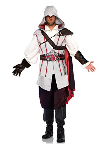 Assassin Ezio Costumes (Assassin's Creed Ezio Ninja Animus Licensed Halloween Costume Outfit Adult Men)