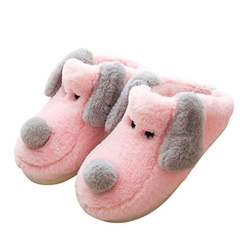 De Bas Pink De De 35 Antidérapant Maison d'hiver De Ménage Pink Couleur Coton De D'intérieur Pantoufles Dessinée HUYP Mignon Bande Taille Rq8dw7d
