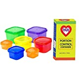 PariInc® 7 Piece Portion Control Containers Set with 100 page eBook / Kit for Weight Loss (7pcs) With Guide, 100% Leak Proof, Microwave & Dishwasher Safe , Ideal Food Storage Containers for Meals & Diet,Suitable as Lunch Boxes & Food Savers, Multi-Colored System and Similar to 21 Day Fix. Perfect for Weight Loss.