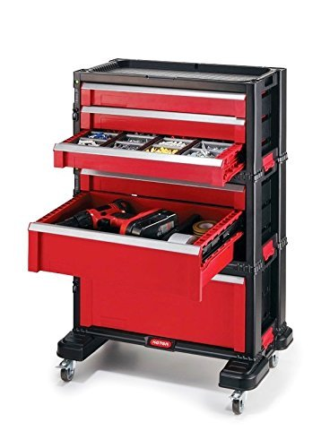 Keter 6?Drawer Tool Trolley Case with Castors by Ketec