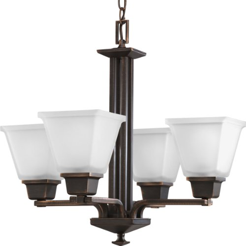 Progress Lighting P4001-74 4-Light North Park Chandelier, Venetian Bronze