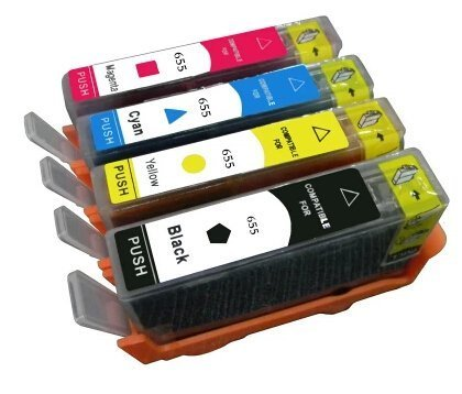 Ink Choice Compatible Ink Cartridge For HP 655 BK C M Y 4 Pcs for HP Deskjet Ink Advantage 3525/4615/4625/5525/6525 Inkjet Printer part