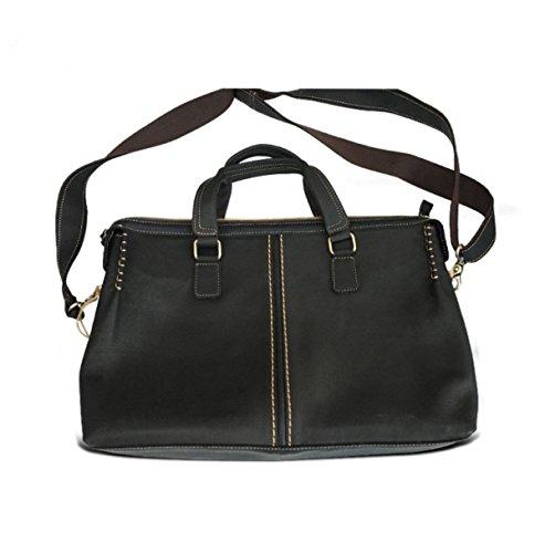 El Hombre De La Manera Clásica Textura Concisa Negro Paquete Handcarry Bolsa De Negocios Black