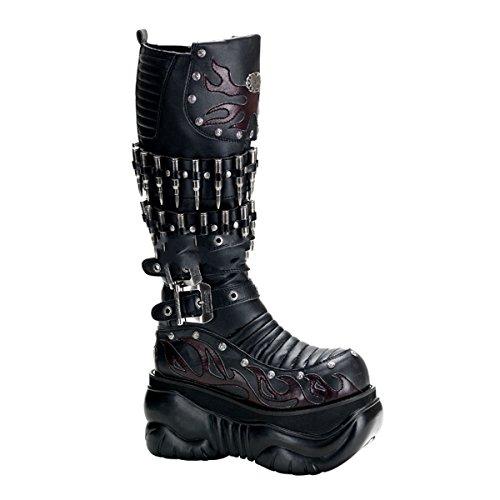 Demonia Boxer-201 - Gothic Punk Industrial Plateau Stiefel 37-45