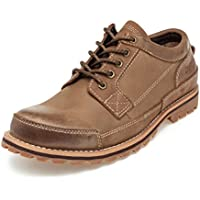 SADDY Men's Lace up Genuine Leather Oxford Sole Classic Casual Shoes for Work and Hiking
