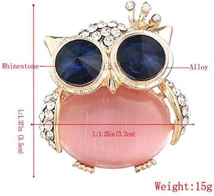 AIUIN Brosche Pin Style Fashion Eule Corsage Brosche Dekoration Legierung Elegante M/ädchen Geschenk Jahrestag Weihnachten Valentine