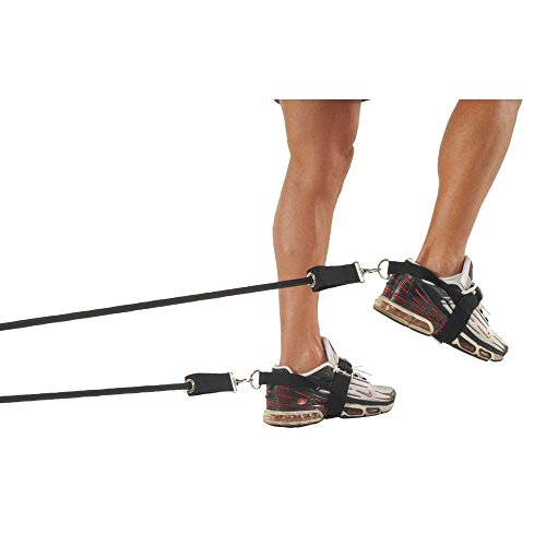 Power Systems Leg Speed Builder, Two Adjustable Foot Straps and Two 70-Inch Resistance Tubes with Anchor, Resistance Levels: 14-40 Pounds, Black (11000) Review