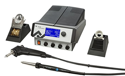 Ersa i-Con Vario2 ESD 2 Kanal Löt und Heißluftstation mit X-Tool Vario 150 W und Air-Tool, 200 W, 0ICV2000AXV