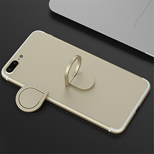 Phone Ring Holder Stand, HuntGold Universal Rotated Water-drop Finger Ring Clip Stand Bracket Buckle Phone Grip Kickstand for All Smartphones iPhone Samsung Huawei Also for Tablets Gold by HuntGold (Image #5)