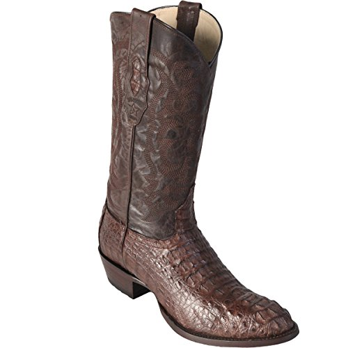Original Brown Caiman (Gator) Hornback Skin Round Toe Boot