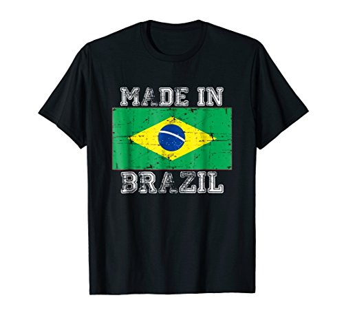 Made In Brazil National Brazilian Flag Patriotic T-Shirt