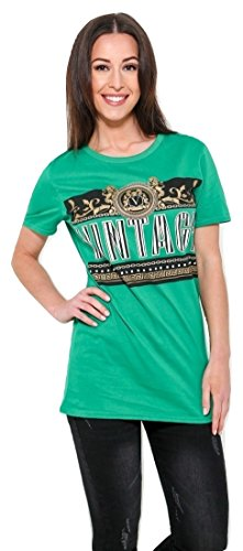 T Momo EUR Vintage Graphic 42 Fashions amp;Ayat Taille Vert 36 Printed Shirt Mesdames x6YnZYHWr8
