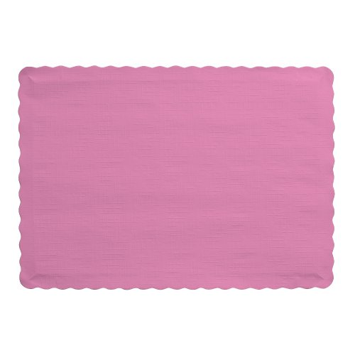 Creative Converting 863042B Touch of Color Paper Placemats, 9.45 x 13.25 inches, Candy Pink (Creative Converting Candy)