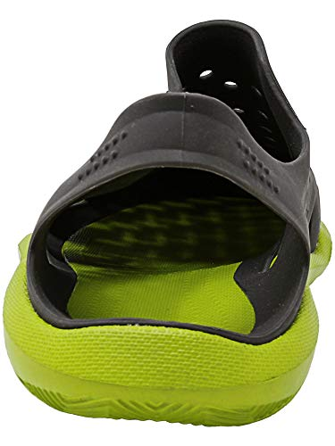 Crocs Men's Swiftwater Wave Graphite/Volt Green Ankle-High Rubber Sandal - 4M by Crocs (Image #2)