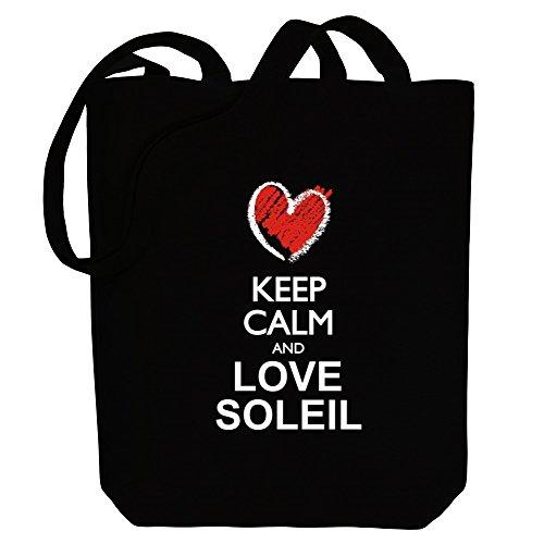 Keep Canvas Bag Idakoos love calm and Female Soleil chalk Tote style Names TdfRq4