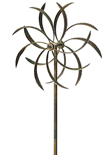 Russco III GS135548 Metal Organic Wind Spinners, Small Double Leaf