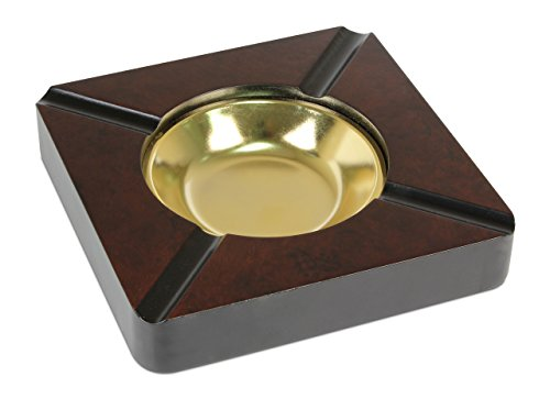 Quality Importers Trading Four Cigar Wooden Ashtray Ash Burl High Gloss
