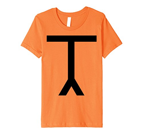 Costume Stick In Figure Girl (Kids Halloween Lazy Costume Stick Figure Funny Joke T-shirt 8)