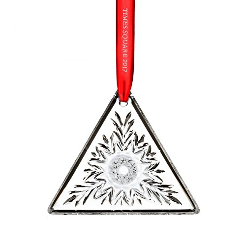 (2017 Waterford Times Square Gift of Kindness Triangle Crystal Christmas)