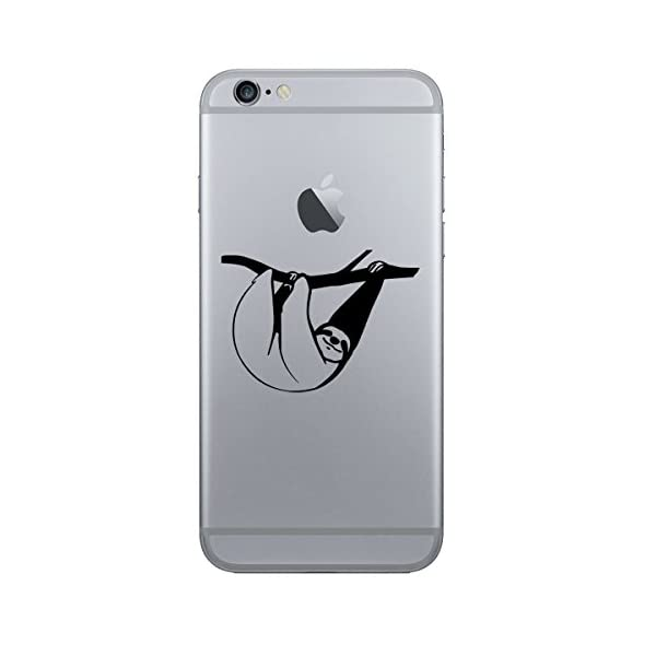 (2X) Stickany Phone Series Sloth Hanging Sticker For Iphone, Galaxy S, Lg, Htc, Sony And More! (Black) -