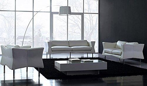 Calia Maddalena–Wohnzimmer Leder Tosca, Leder terra Zweisitziges Sofa Pelle Terra Tabacco