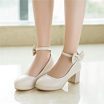 Wuyulunbi@ niña vestidos y zapatos de tacón Zapatos de baile Zapatos de rendimiento,34